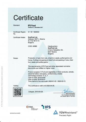 2019 IFS certificate EN